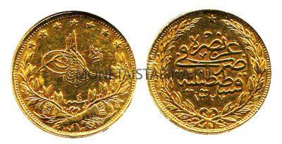 180 монета 100 курушей 1909 год турция.