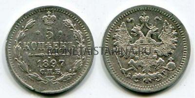 Реверс монеты 1/2 копейки 1897 спб